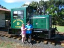 Phil and Karell at the Kauai Plantation Railway